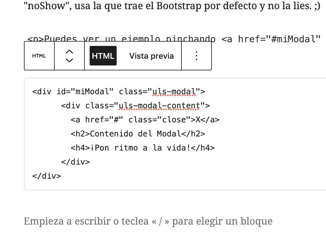 Crear una ventana modal sólo con CSS